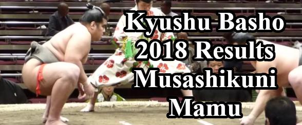 Kyushu Basho 2018 Results - Musashikuni Mamu