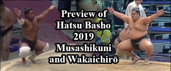 hatsu basho 2019 - musashikuni and wakaichiro header