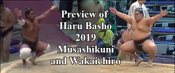 Haru Basho 2019 - Musashikuni and Wakaichiro Header